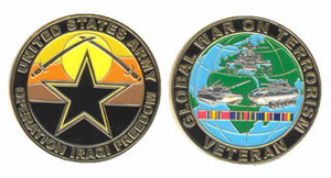 U.S. Army Operation Iraqi Freedom Veteran Challenge Coin