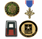 U.S. Army Pins Patches Coins