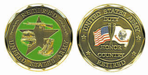 U.S. Army Retired Challenge Coin