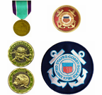 U.S. Coast Guard Pins, Patches, Coins and Medals