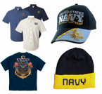 U.S. Navy Apparel - Shirts, Caps, Jackets