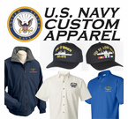 U. S. Navy Custom Caps, Shirts, and Jackets