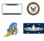 U.S. Navy Decals, Licsense Plate Frames, Magnets and More