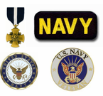 U.S. Navy Pins, Patches, Coins and Medals
