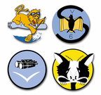 U.S. Navy Squadron and Airwing Vinyl Transfer Decals