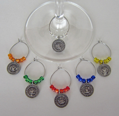 U.S. Navy Wine Glass Charms