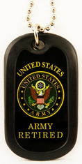 United State Army Retired Enamel Dog Tag