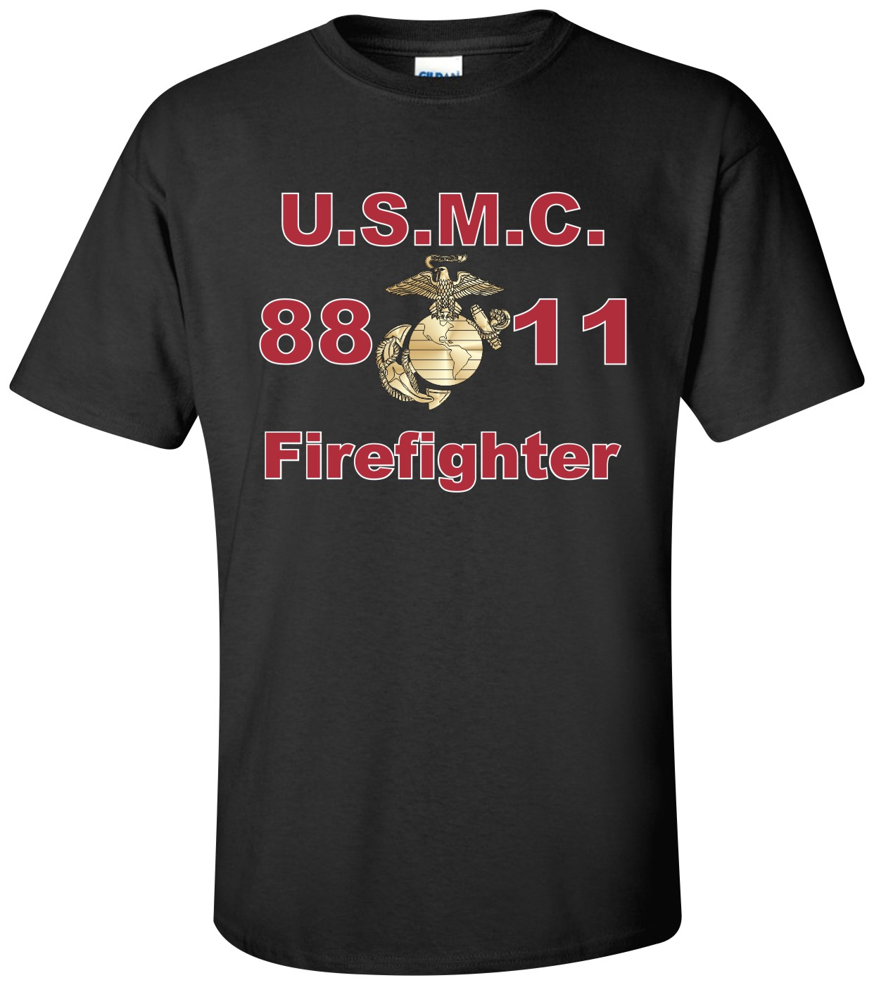united states marine corps mos 8811 firefighter t shirt