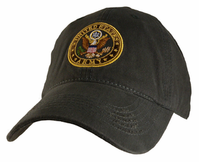 Unstructured Army Charcoal Gray Ball Cap
