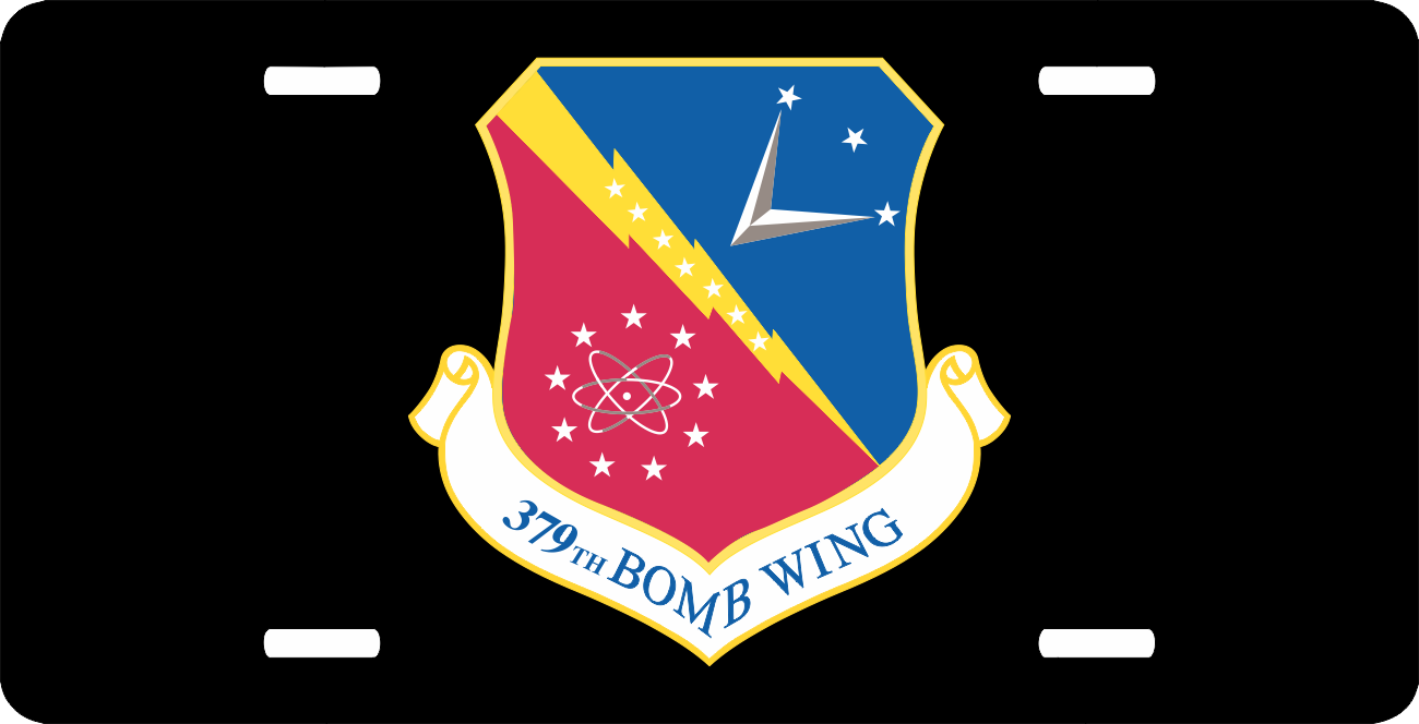 u s air force 379th bomb wing license plate. Black Bedroom Furniture Sets. Home Design Ideas