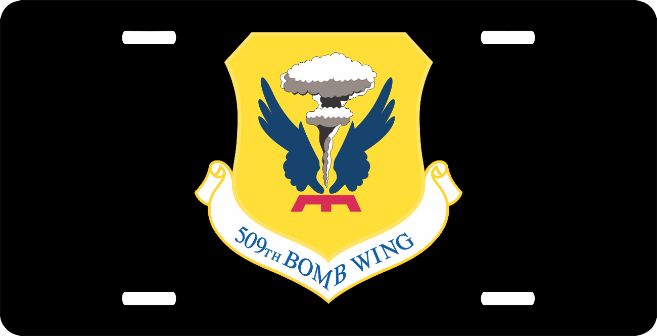 us air force 509th bomb wing license plate. Black Bedroom Furniture Sets. Home Design Ideas