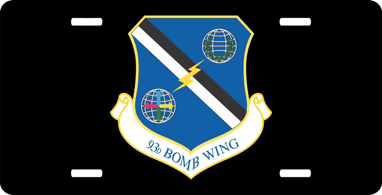 us air force 93rd bomb wing license plate. Black Bedroom Furniture Sets. Home Design Ideas