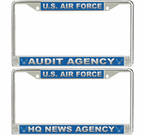 US Air Force Agencies License Plate Frames