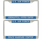 US Air Force Centers License Plate Frames
