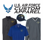 U.S. Air Force Custom Embroidered Caps and Apparel