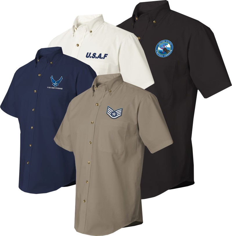 Us Air Force Custom Embroidered Dress Shirts