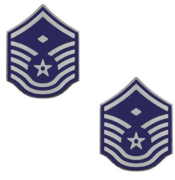 Air Force Master Sergeant with Diamond Rank Insignia