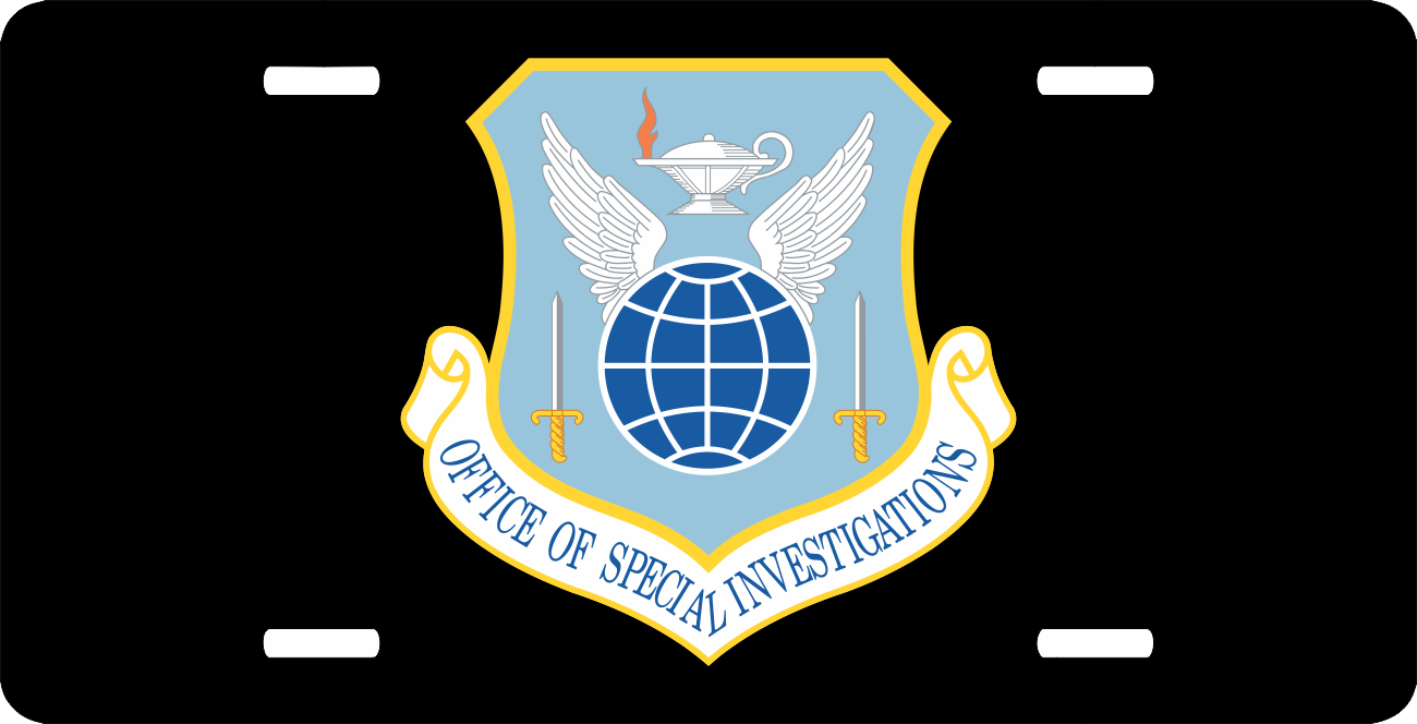 Us air force office of special investigation license plate - Air force office of special investigation ...