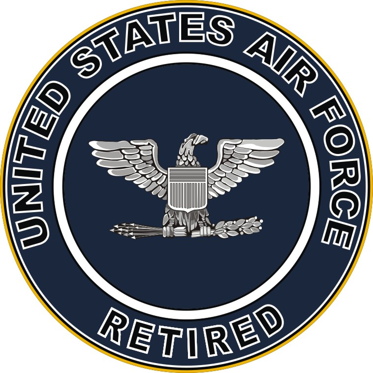 U S Air Force Retired Colonel Decal Sticker