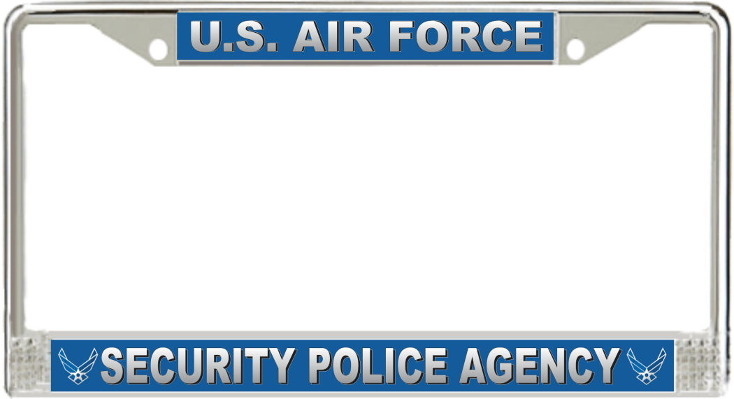 U.S. Air Force Security Police Agency License Plate Frame