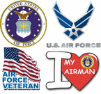 U.S. Air Force Window Decals and Stickers