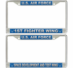 US Air Force Wings License Plate Frames