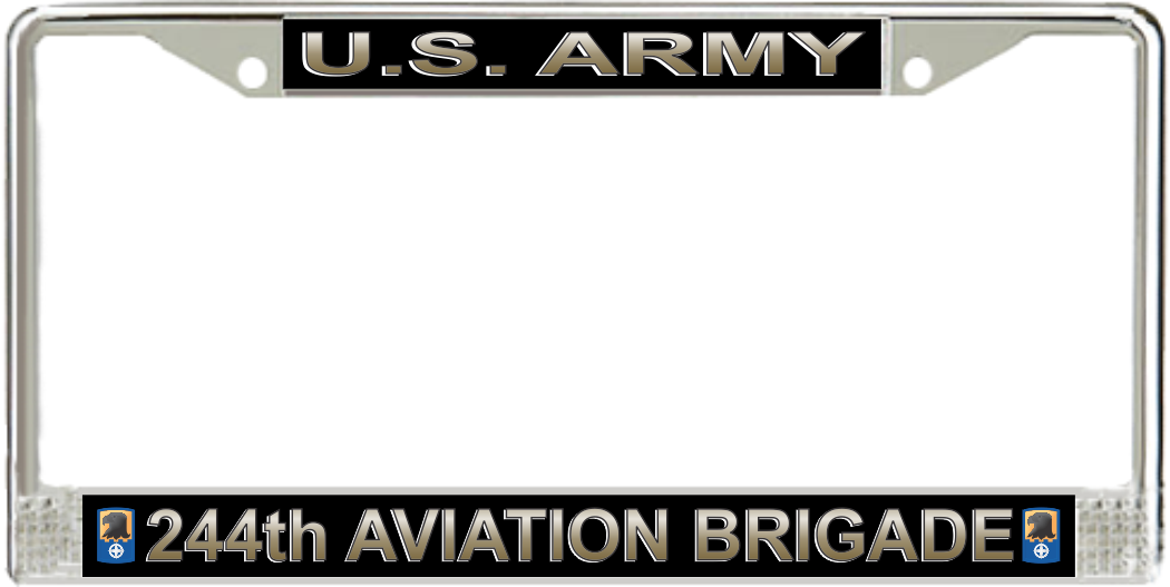 U S Army 244th Aviation Brigade License Plate Frame