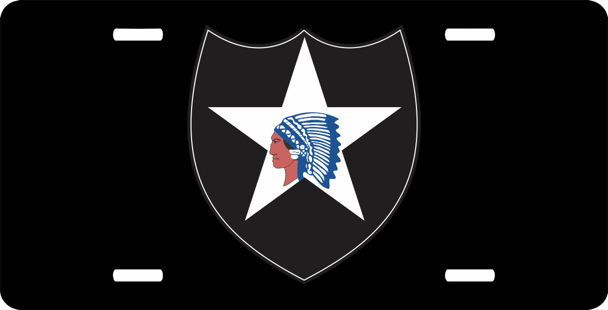 Us Army 2nd Infantry Division License Plate