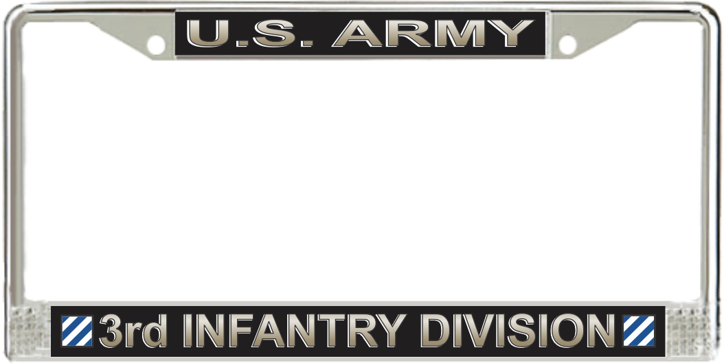 U.S. Army 3rd Infantry Division License Plate Frame