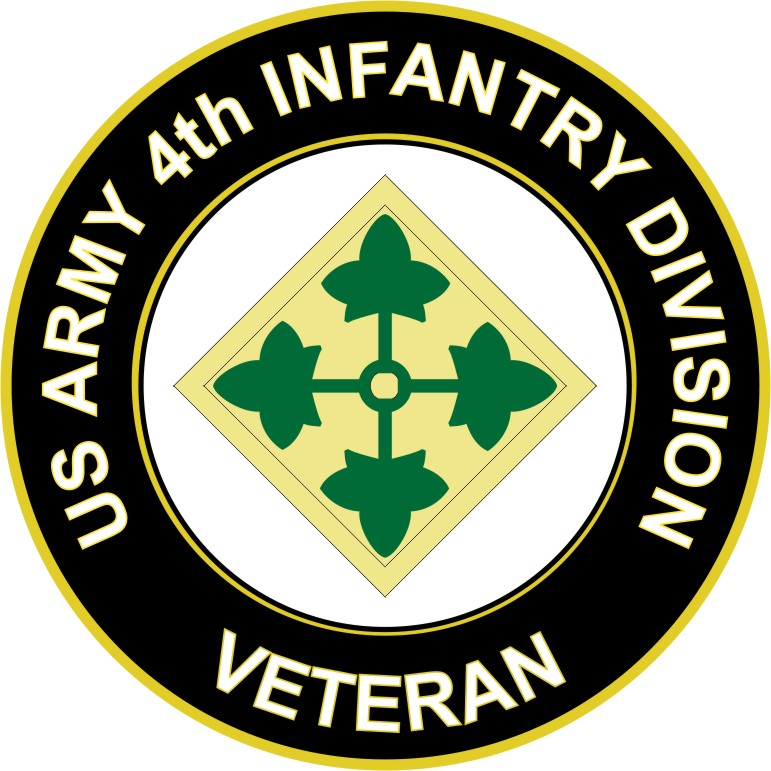 Us Army 4th Infantry Division Veteran Sticker Decal