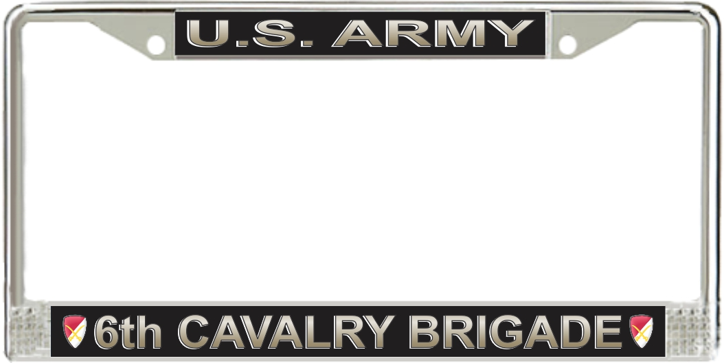 U S Army 6th Cavalry Brigade License Plate Frame