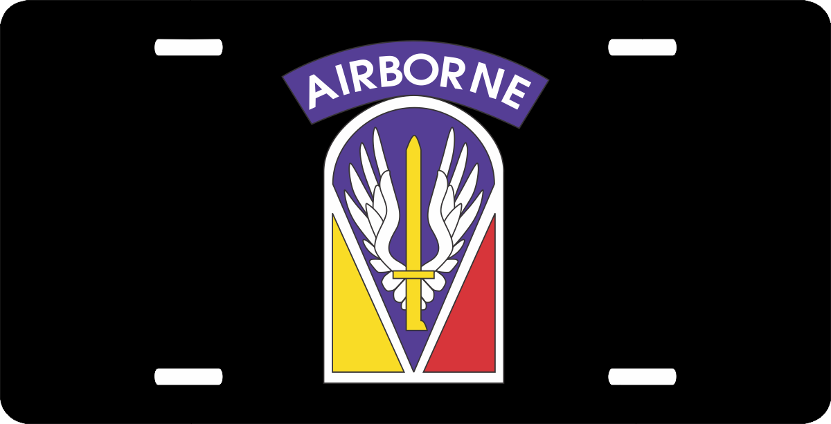 U S Army Airborne License Plate