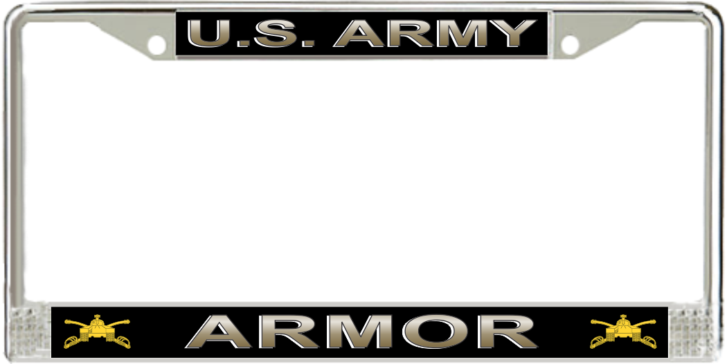 us army armor license plate frame