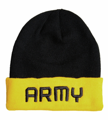 US Army Black and Gold Watch Cap