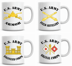 U.S. Army Branch Coffee Mugs