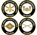 U.S. Army Branch Veteran Decals