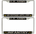 US Army Branches License Plate Frames