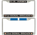 U.S. Army Brigade License Plate Frames