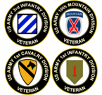 U.S. Army Division Veteran Decals