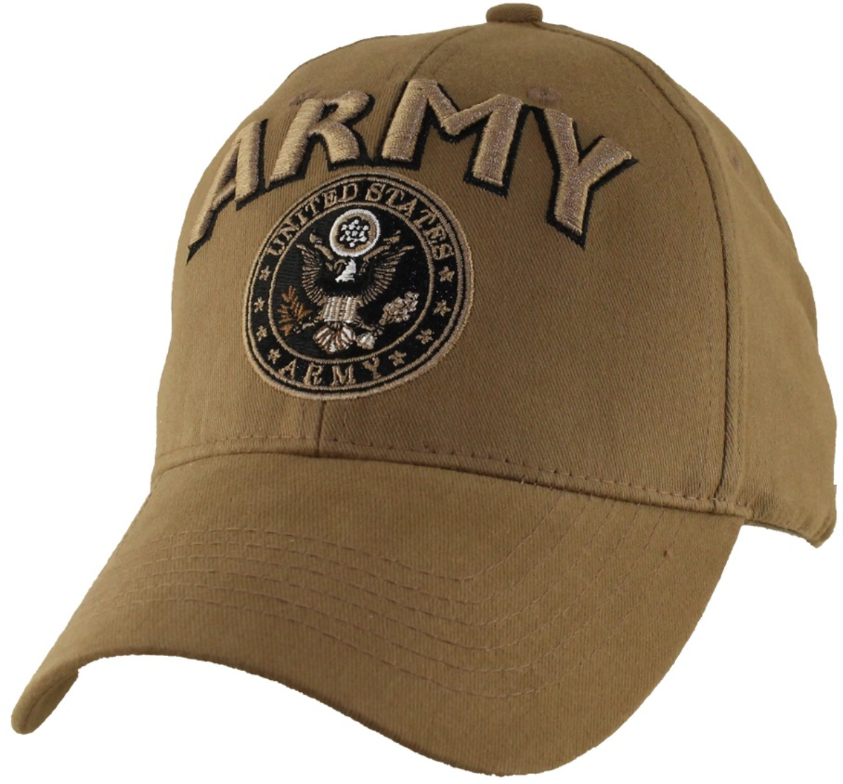 U S Army Emblem With Text Ball Cap