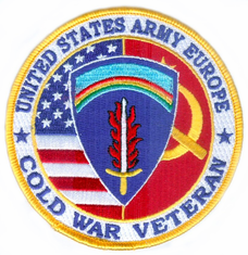 "U.S. Army Europe Cold War Veteran 4"" Patch"