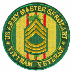 "US Army Master Sergeant Vietnam Veteran 4"" Patch"