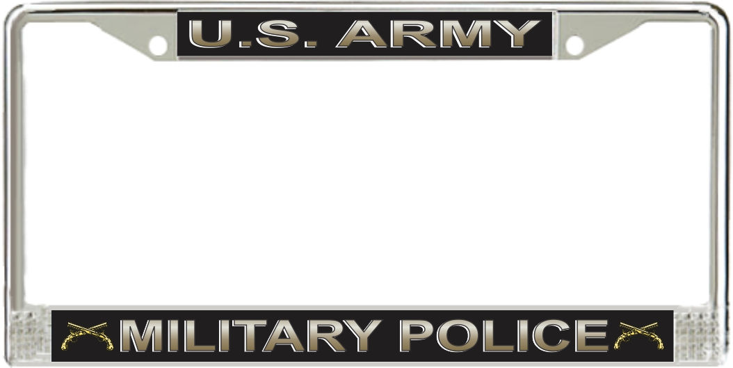 us army military police corps license plate frame
