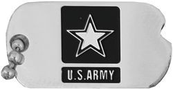 US Army Miniature Notched Dog Tag Lapel Pin
