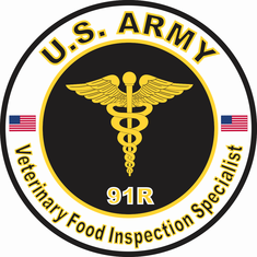 U.S. Army MOS 91R Veterinary Food Inspection Specialist