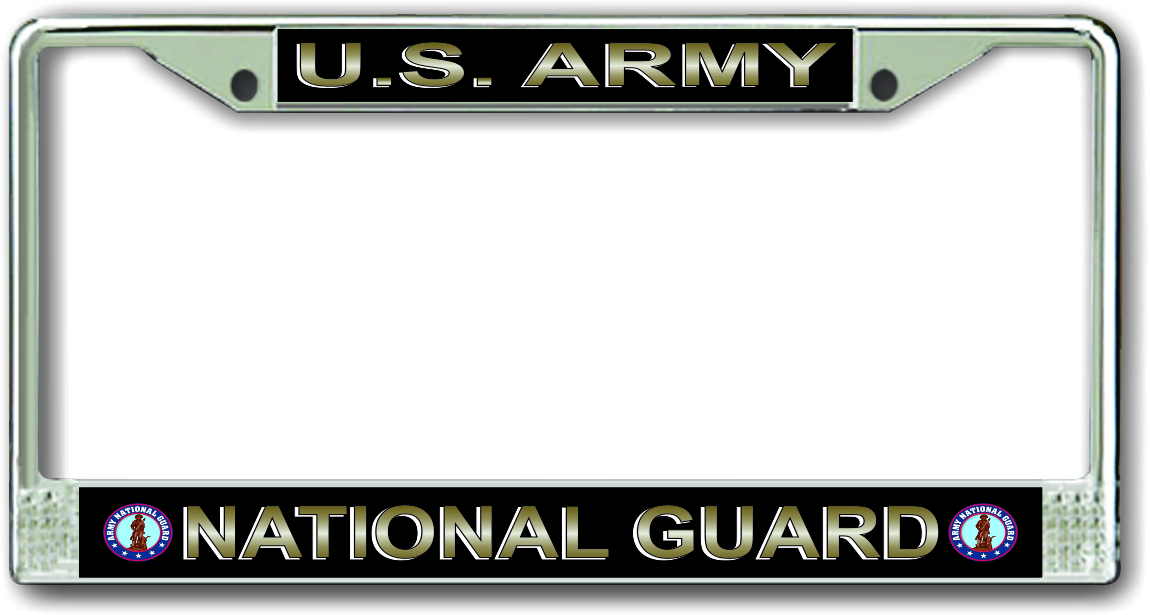 us army national guard license plate frame