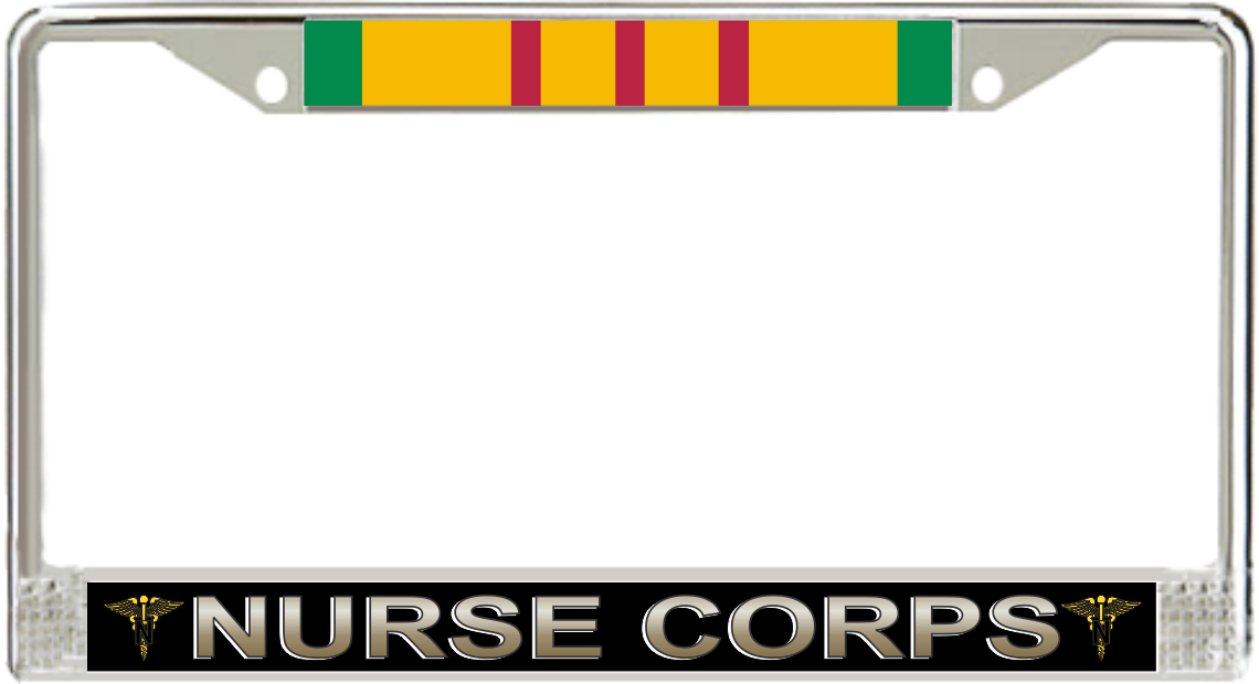 U S Army Nurse Corps Vietnam Veteran License Plate Frame