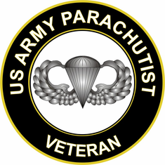 U.S. Army Parachutist Veteran Sticker Decal