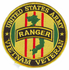 "U.S. Army Ranger Vietnam Veteran 4"" Patch"