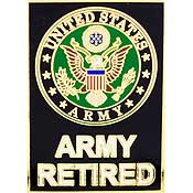 US Army Retired Military Lapel Pin (1-1/8)